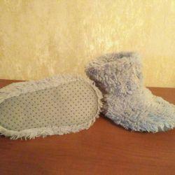 29 / Bebek ev yapımı chuni kürk terlik botlar
