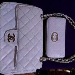 Kadın çantası + cüzdan