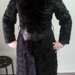 ψιλοκομμένο γούνινο παλτό