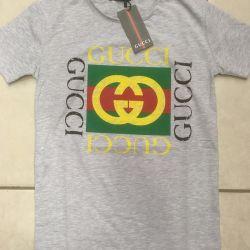 T-shirt βαμβακερό Gucci νέο. Γκρι