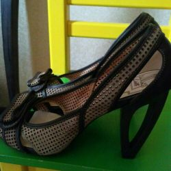 Perforated sandals