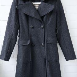 Graphite Wool Coat