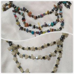 Beads from Ural gems