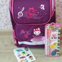 Backpack school for the girl