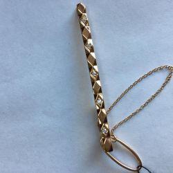 golden tie clip