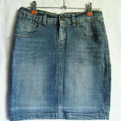 The skirt is jeans, size 42