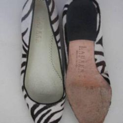 Ralph lauren Zebra Ponei Balerinele de păr 37-37.5