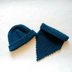 Hat + guler (kit de tricotat manual)