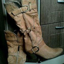 MeMedea boots, leather, demi-season