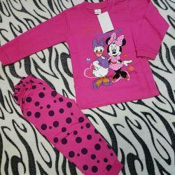 Kız için pijamalar 92 beden yeni