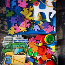Lacing, puzzles, toys package