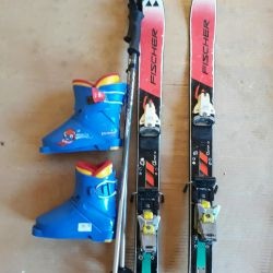 Alpine skis + boots + mount + sticks
