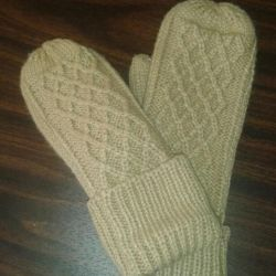 New double warm mittens