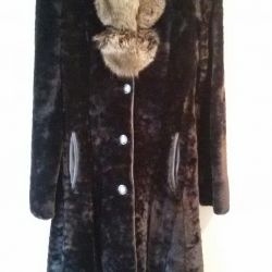Fitted fur coat