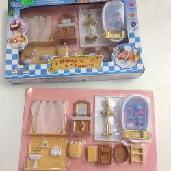 Набор ванная для кукольного домика