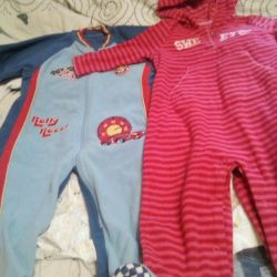 fleece salopete 9-18 m