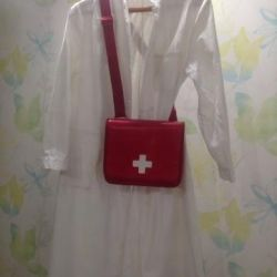 Bag with a white cross on Halloween / halloween