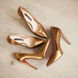 Markalı piton deri ayakkabı