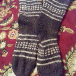 Yeni örme erkek çorapları