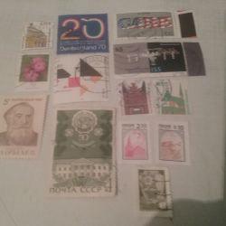 Поштові марки СРСР, Росії, Німеччини