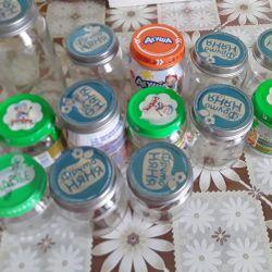 Jars of mashed potatoes