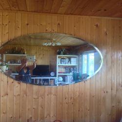 Oglinda ovală nouă 160x80 cm