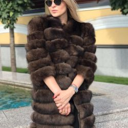 Fur coat from fox color under Sable