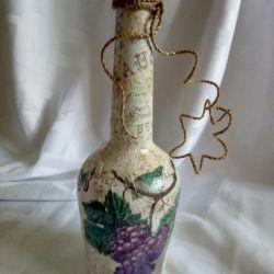 Bottle of Decoupage Vine