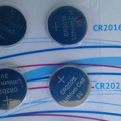 New lithium batteries CR2016, CR2025
