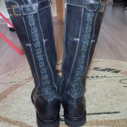 Boots from genuine leather of river 38,5-39