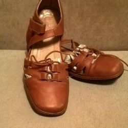 Natural sandals leather size 40