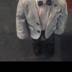 Erkek çocuk kostümü: ceket, pantolon, gömlek, kravat