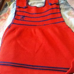Knitted sundress for 4-5 years