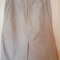 Denim skirt, r 50
