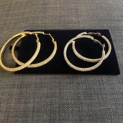 Σκουλαρίκια δαχτυλίδι