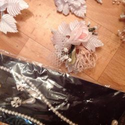 Package of new wedding accessories
