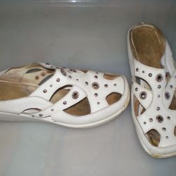 sandals made of genuine leather