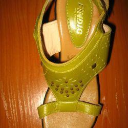 YENİ Süper rahat sandalet, deri s.37, LABEL ile