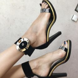 Sandals with an ankle strap