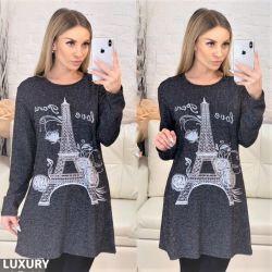 Платье-туника эйфелева башня 40,50,52,54
