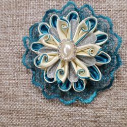 Brooch on a dress or blouse