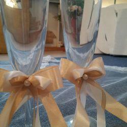 Бокалы новые свадебные
