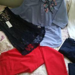 Νέα παντελόνια και μπλούζες r. 48-50