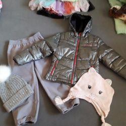 Jacket, pants, hats