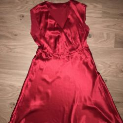 The dress is red