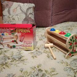 6 ay-3 yaş için çırpıcı oyuncak