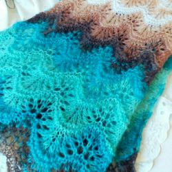 Scarf from mohair