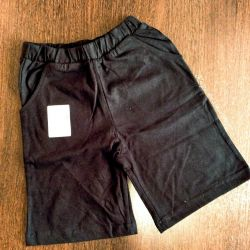 Black shorts (new) sizes from 104 to 140 cm