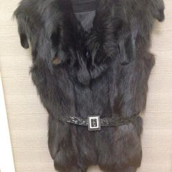 New vest from natural fur