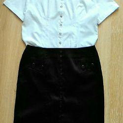 Комплект блуза+юбка